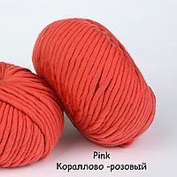Толстая перуанская пряжа The Wool (200 грамм/ 80 метров)- We Are Knitters™ - цвет Коралловый розовый