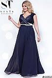 Шикарное вечернее платье, отлично подчеркивает декольте 48-52р.(7расцв) , фото 4