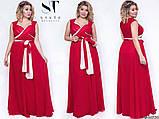 Шикарное вечернее платье, отлично подчеркивает декольте 48-52р.(7расцв) , фото 6
