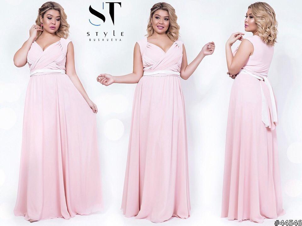 Шикарное вечернее платье, отлично подчеркивает декольте 48-52р.(7расцв)