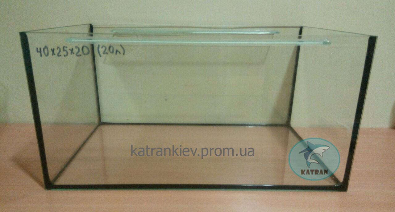 Аквариум 40*25*20 прямой (20 л) стекло 4 мм