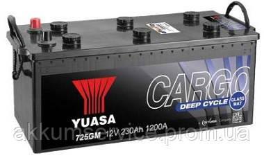 Акумулятор вантажний YUASA Cargo Deep Cycle 230AH 3+ 1200А (725GM)