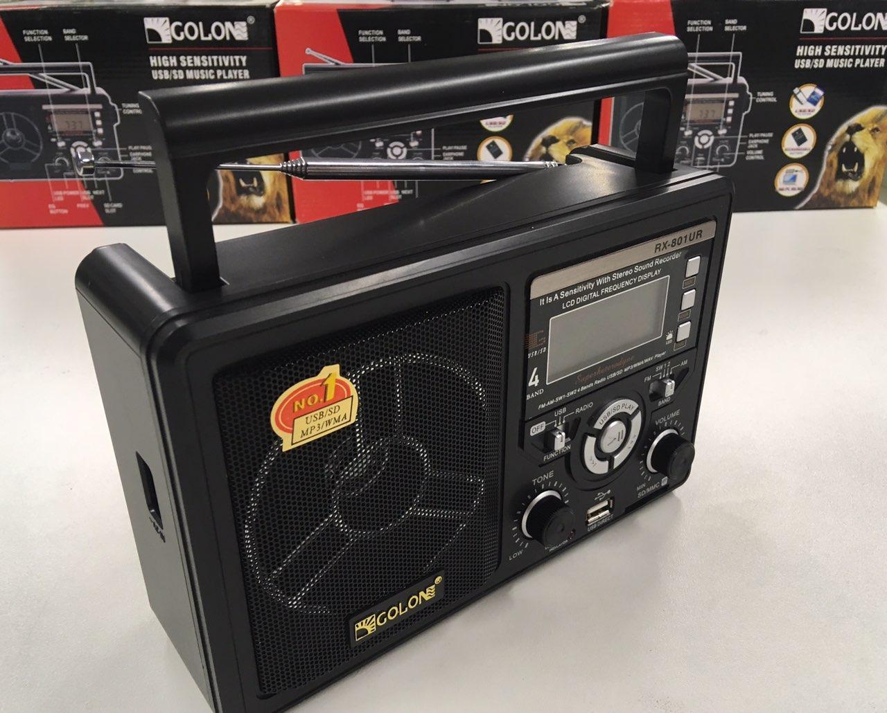 Радиоприемник цифровой, RX-801UR USB/SD MP3