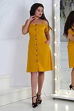 Платьелён, №125, горчица, фото 2