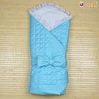Конверт-одеяло на выписку «Ангелок» Omali (голубой)