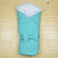 Конверт-одеяло на выписку «Ангелок» Omali (зелёный)