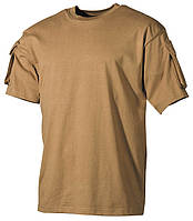 Тактическая футболка USA, coyot, 100% cotton