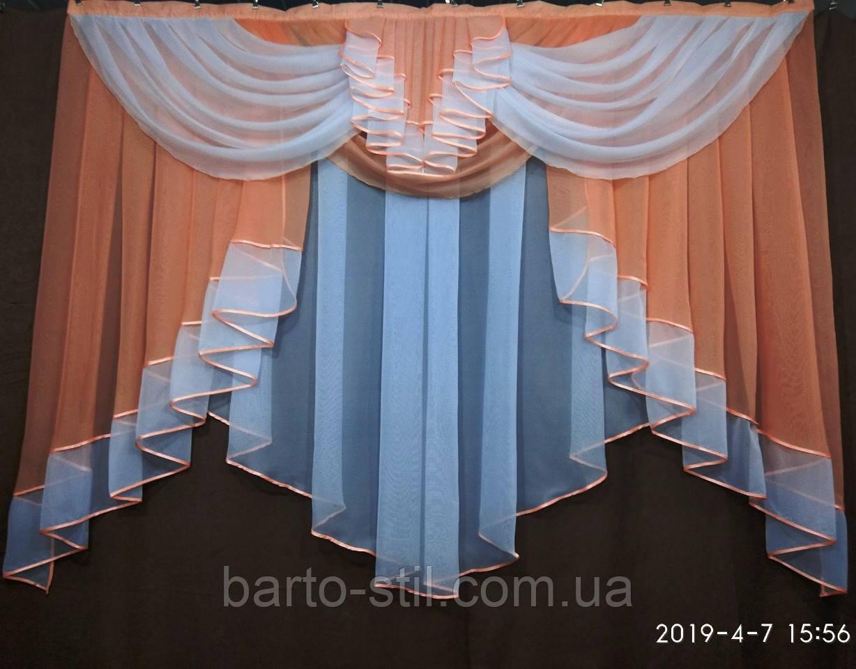 """Занавеска на кухню """"Милена"""" на небольшое окно  Ширина 2 м. Разные цвета"""