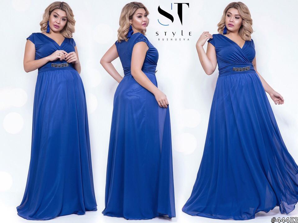 Шикарное вечернее платье, отлично подчеркивает декольте 48-52р.(8расцв)