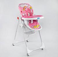 """Детский стульчик для кормления JOY К-73480 (1) """"ПОНИ"""" цвет розовый, в коробке"""