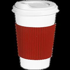 Термопояс капхолдер клееный  250/340 мл. 25шт.(40/1000) Красный