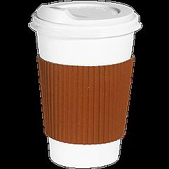Термопояс капхолдер клееный  250/340 мл. 25шт.(40/1000) Оранжевый