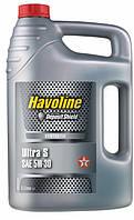 Масло моторное TEXACO HAVOLINE ULTRA S 5W-30 5л, синтетическое моторное масло