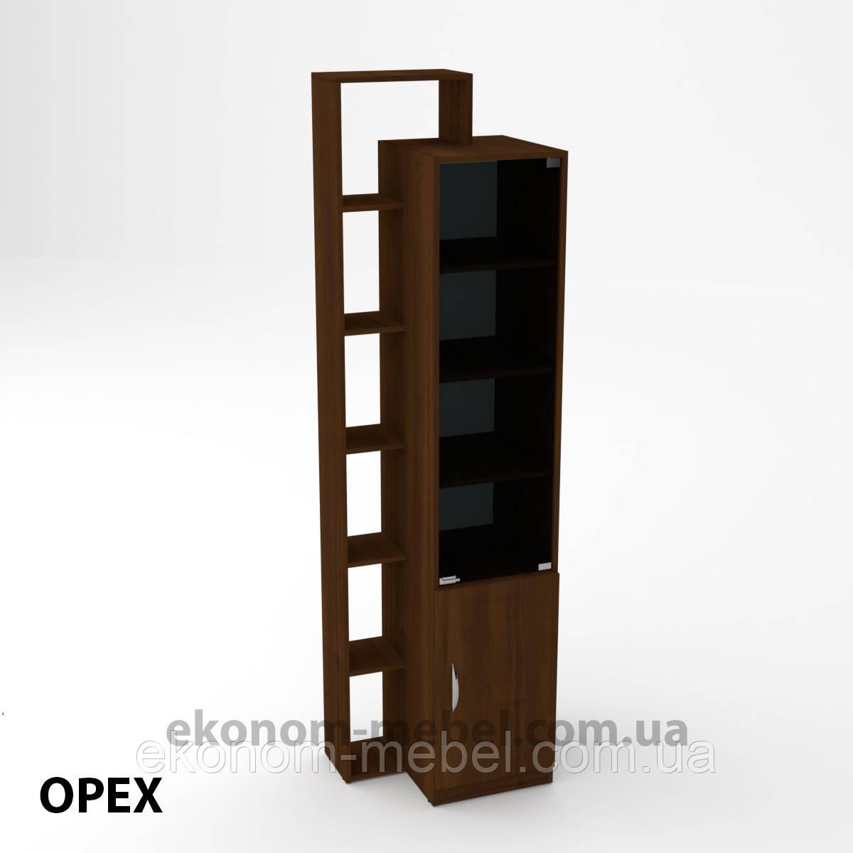Шкаф-10 для офиса и дома закрытый с открытыми полками