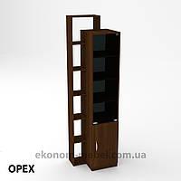 Шкаф-10 для офиса и дома закрытый с открытыми полками, фото 1