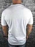 Трендова Чоловіча Футболка Valentino біла 100% Бавовна Топ Хайповая Валентино репліка, фото 3