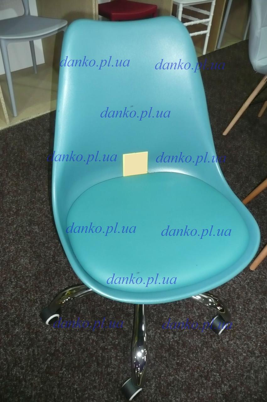 Кресло на колесах Milan (Милан) бирюзовое, сиденье с подушкой