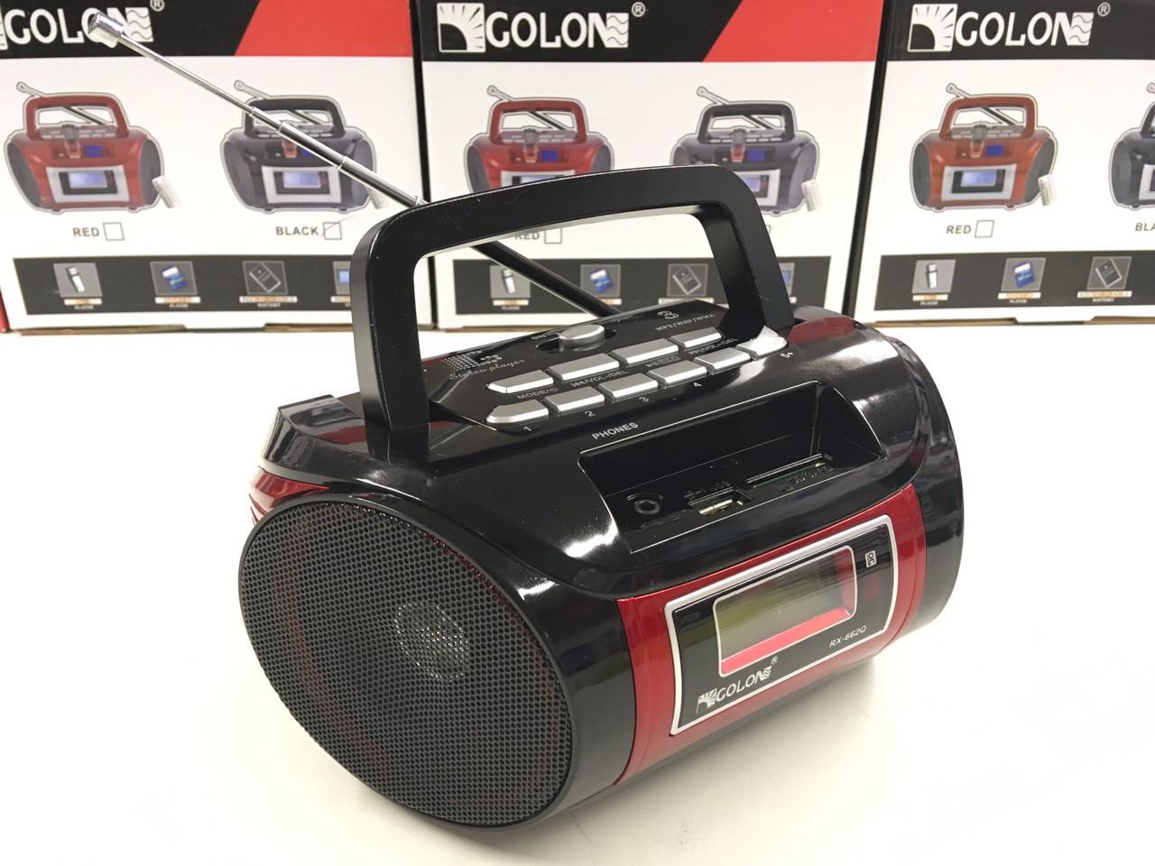 Радиоприёмник бумбокс Golon RX-662Q МП3