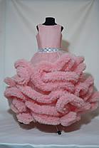 Детское нарядное платье в пол Облако пудра