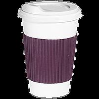 Термопояс капхолдер клееный   250/340 мл. 25шт.(40/1000) Фиолетовый
