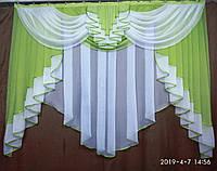 """Красивая занавеска на кухню """"Милена"""" на карниз 2 м. Разные цвета, фото 1"""