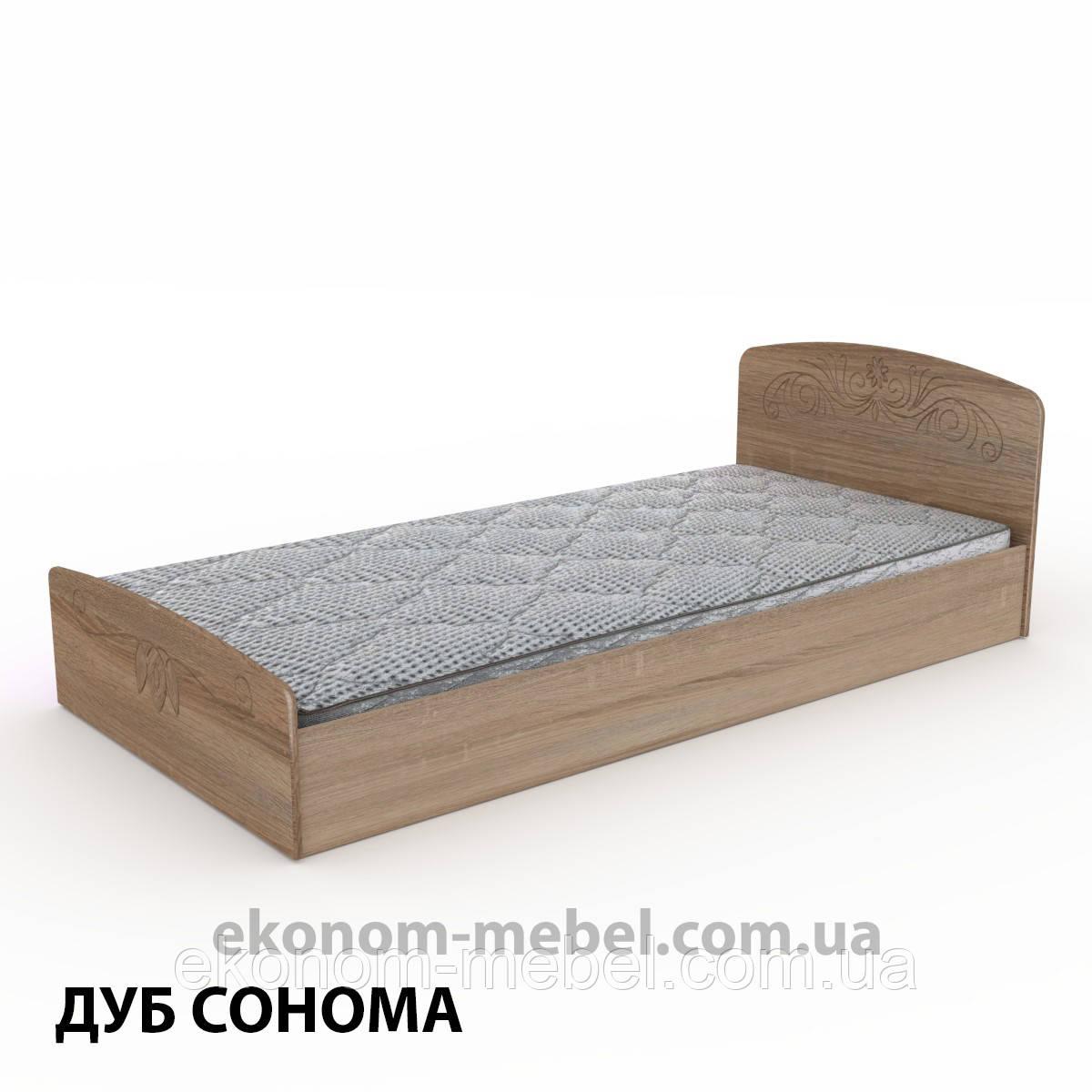 Кровать Нежность-90 МДФ полуторная стандартная с нишей для хранения