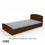 Кровать Нежность-90 МДФ полуторная стандартная с нишей для хранения, фото 7