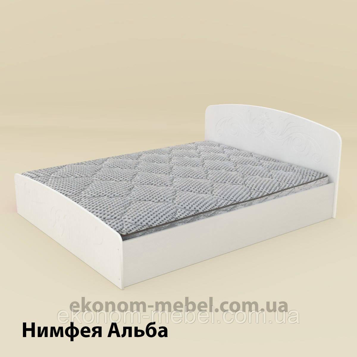Кровать Нежность-140 МДФ полуторная стандартная с нишей для хранения