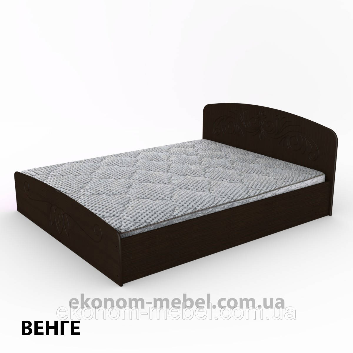 Кровать Нежность-160 МДФ полуторная стандартная с нишей для хранения