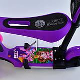✅Самокат-беговел 5в1 Best Scooter 12409 с родительской ручкой и сиденьем, подсветка колес и платформы, фото 4