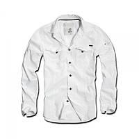 Рубашка с длинным рукавом мужская Brandit Slimfit Shirt WHITE