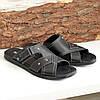 Шлепанцы мужские кожаные черного цвета. В наличии 42 размер, фото 2