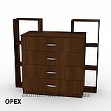 Комод 4-2 на 4 ящика с открытыми полками для спальни, ДСП, фото 8