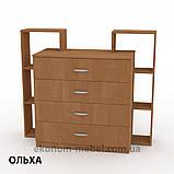 Комод 4-2 на 4 ящика с открытыми полками для спальни, ДСП, фото 9