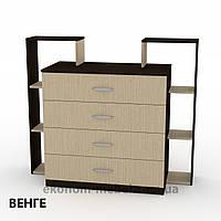 Комод 4-2 на 4 ящика с открытыми полками для спальни, ДСП, фото 1