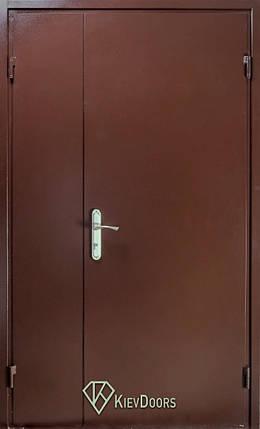 Металлические полуторные входные двери метал/ДСП наружные на улицу, фото 2