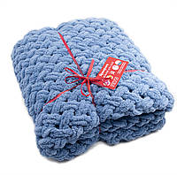 Детский плюшевый плед Ярмирина Голубой Джинс 80х100 см в подарочной сумке