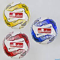 М'яч футбольний З 34168 (50) 410-430 грам, 3 види, балон з ниткою, матеріал TPU