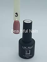 База для нігтів кольоровий UK.Nail Color Rubber Base№3 8 мл., фото 1