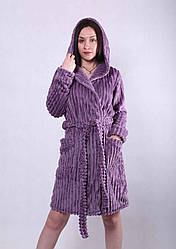 """Махровый женский халат  """" Violet"""" р.42-54"""