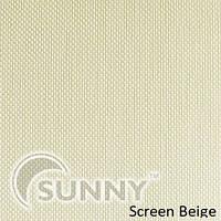 Рулонные шторы для окон в закрытой системе Sunny с плоскими направляющими - ПЛАСТИК, ткань Screen