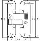 Петля скрытого монтажа ANSELMI AN 150 3D40 AB античная бронза, фото 2