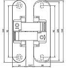 Петля скрытого монтажа ANSELMI AN 150 3D40 B черная, фото 2