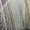 Кремова тюль із золотистою вишивкою корд (шнуром)