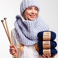 Толстая перуанская пряжа The Wool (200 грамм/ 80 метров) - We Are Knitters™ - цвет Темно-синий