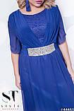 Жіноче ошатне довге вечірнє плаття в підлогу 48-52р.(7расцв), фото 5