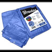 Тент 10 х 15 м от дождя и солнца водонепроницаемый BLUE 60 гр/м.кв. Bradas