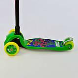 Самокат 37200 Best Scooter складной руль С ФАРОЙ, 4 колеса PU со светом, d=12 см, фото 3