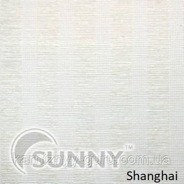 Рулонные шторы для окон в закрытой системе Sunny с плоскими направляющими - ПЛАСТИК, ткань Shanghai