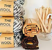 Толстая перуанская пряжа The Wool (200 грамм/ 80 метров) - We Are Knitters™ - цвет Пятнистый серый